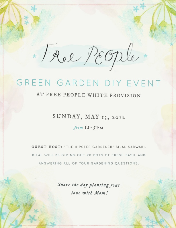 Don't forget about today at Free People White Provision